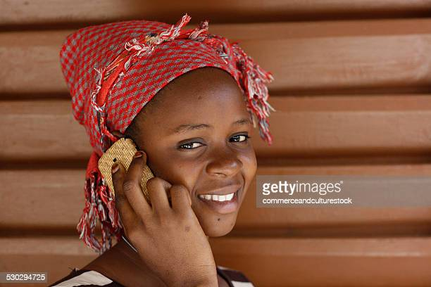 A young woman with a mobile phone
