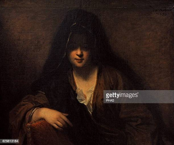 Young woman with a veil by JeanBaptiste Santerre