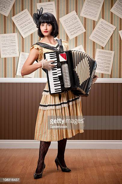 Young Woman With Accordion