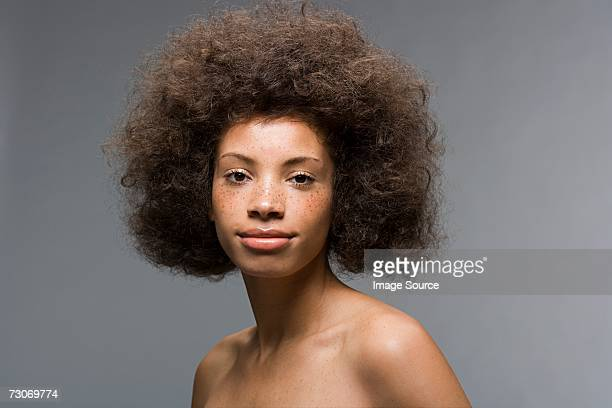 Young woman with afro