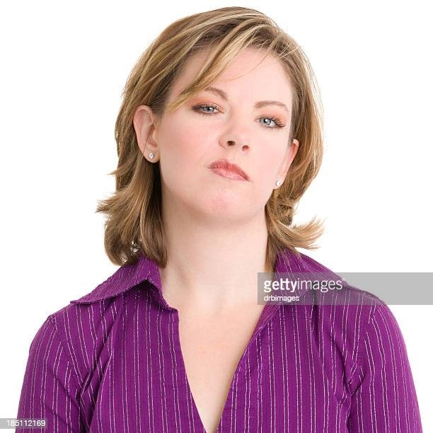 Young Woman With Attitude Staring At Camera