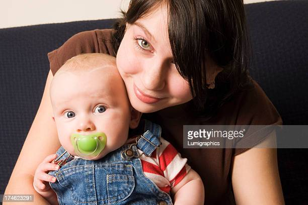 young woman with baby - 18 19 years stock pictures, royalty-free photos & images