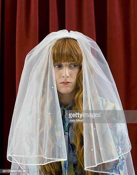 Young woman with bridal veil