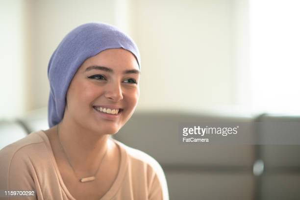 young woman with cancer - leukemia stock pictures, royalty-free photos & images
