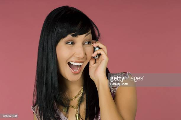 Young woman with cell phone