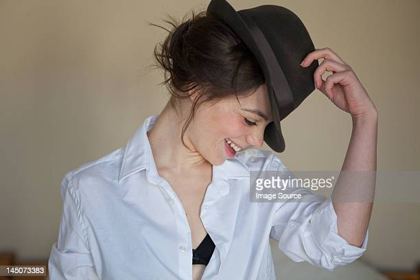Young woman with fedora
