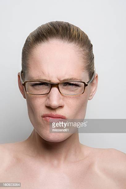 Young woman with glasses, close up