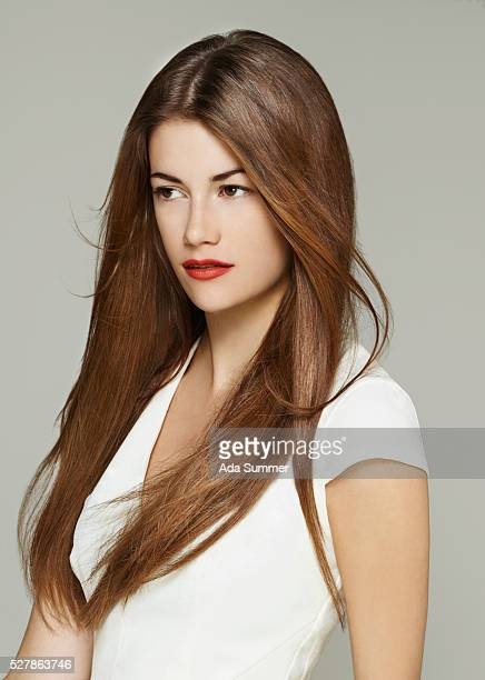 young woman with long brown hair