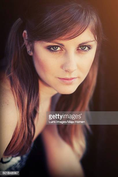 Young woman with long hair, portrait, Croatia, Europe