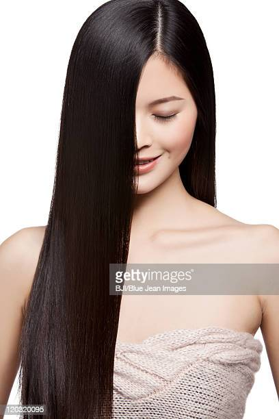 Young Woman With Long Silky Hair
