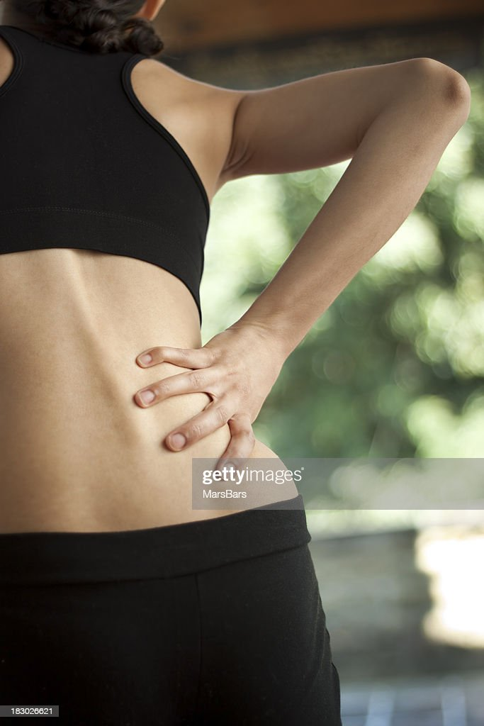 Business Woman Having Back Pain Stock Photo - Image of