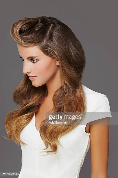 young woman with modern hairstyle
