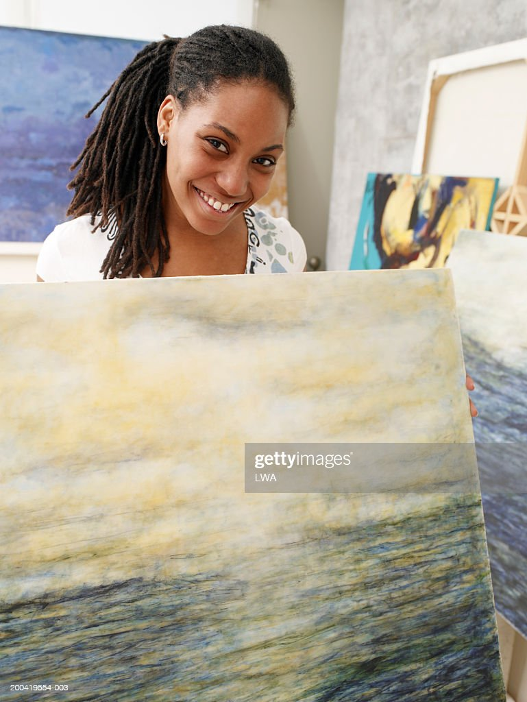 Woman Painting House Stock Image - Image: 28054631