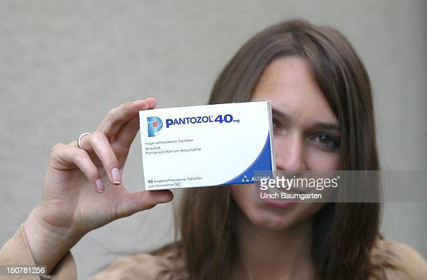Young woman with Pantozolpills