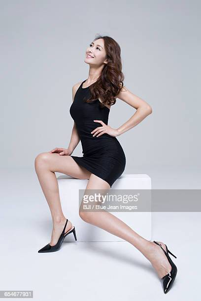 young woman with perfect body - legs spread woman stock photos and pictures