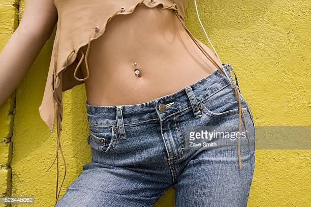 Young Woman with Pierced Midriff