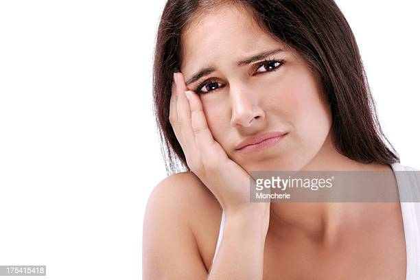 young woman with problems - swollen stock photos and pictures