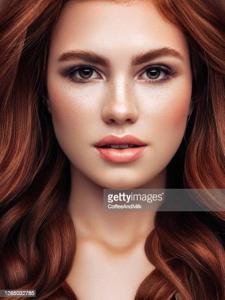 young woman with red hair - woman flashing stock pictures, royalty-free photos & images