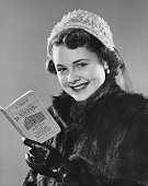 young woman with savings book
