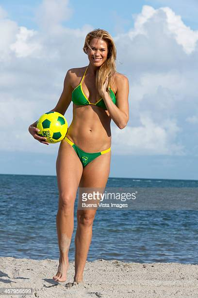 young woman with soccer ball on the beach - brasil stock pictures, royalty-free photos & images