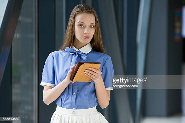 Young woman with tablet pc.