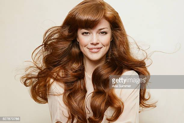 young woman with wavy hair - wavy hair stock pictures, royalty-free photos & images