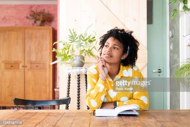 young woman working home - motivation stock pictures, royalty-free photos & images