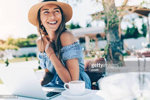 young woman working in the garden - stereotypically upper class stock pictures, royalty-free photos & images