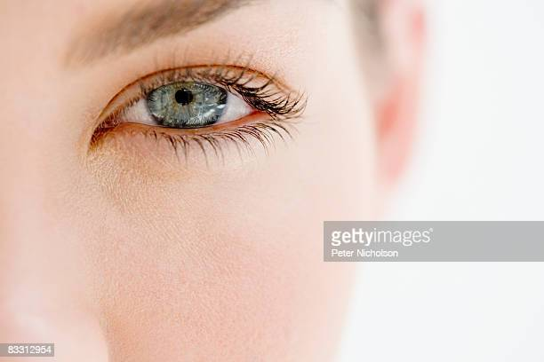 young woman's eye close up