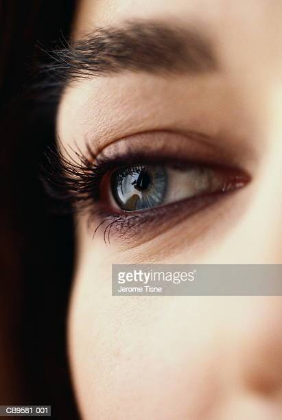 Young woman's eye, close-up