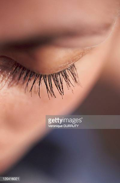 Young woman's eyelashes