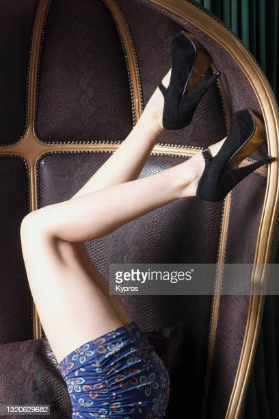 young woman's legs with high heels - womenswear stock pictures, royalty-free photos & images