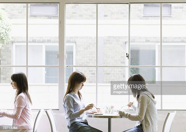 Young women at cafe