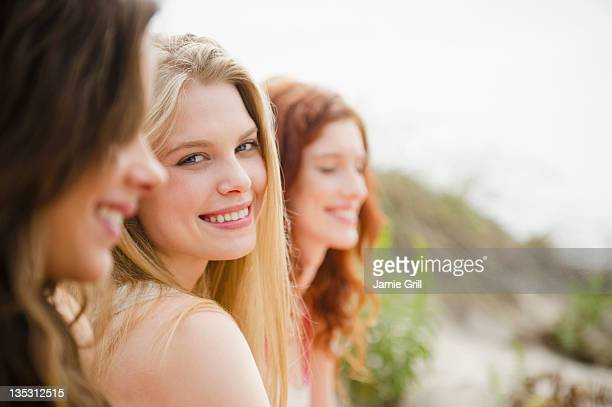 Young women at the beach