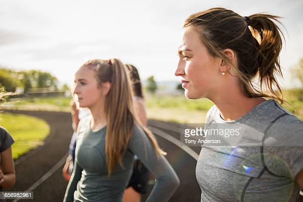 Young women athletes on track