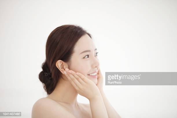 young women beauty - 美容 ストックフォトと画像