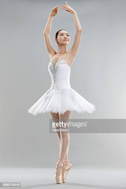Young women dance ballet