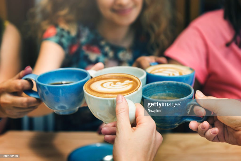 Young Women Drinking Coffee Concept : Stock Photo
