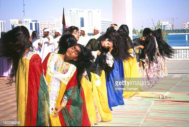Young women during a musical performance United Arab Emirates Islamic Period/ Date Photographed 1996