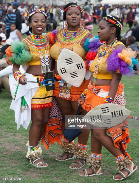 Young women during Heritage Day celebrations on September 24 2019 in in KwaDukuza South Africa While addressing the crowds King Zwelithini expressed...