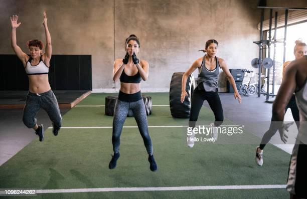 Young women exercising