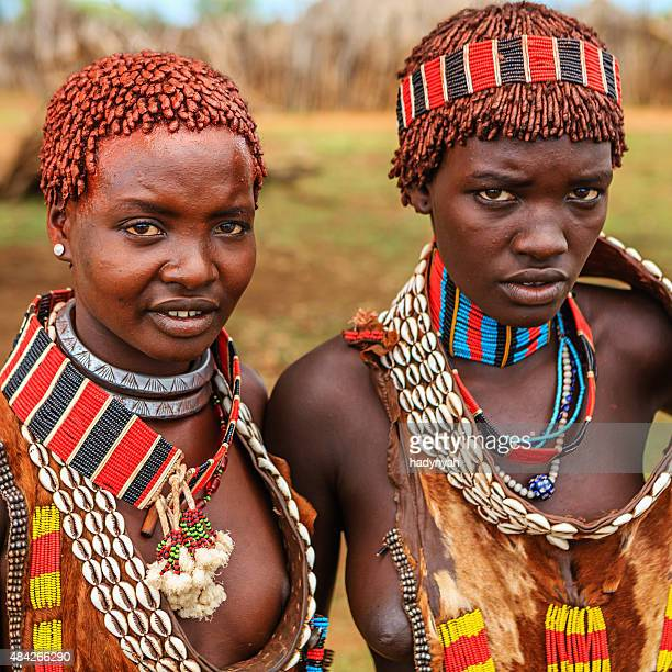 Young women from Hamer tribe, Ethiopia, Africa