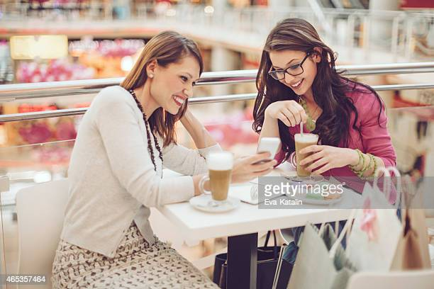 Young women in a coffee shop