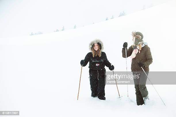 2 young women on a hike