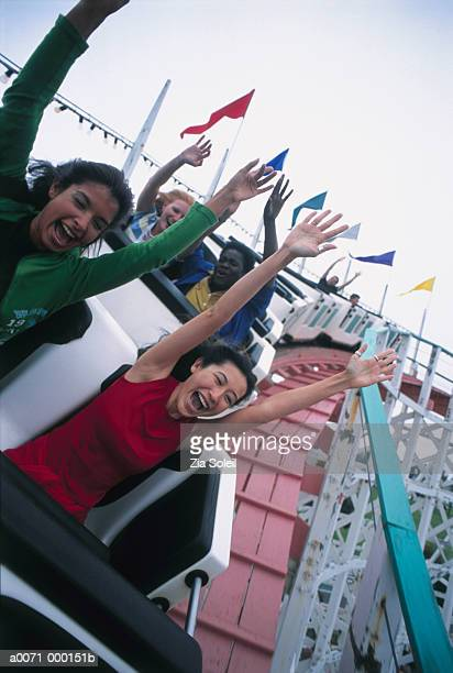 Young Women on Rollercoaster