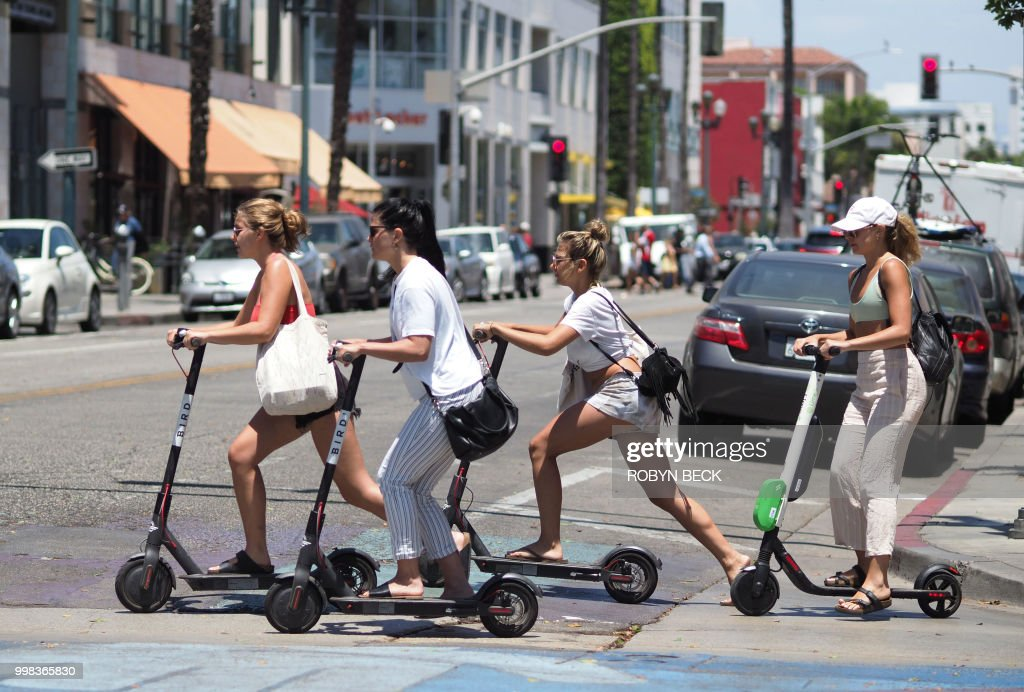 US-LIFESTYLE-TECHNOLOGY-ELECTRIC SCOOTER : News Photo