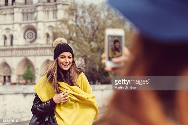 Young women sightseeing in Paris