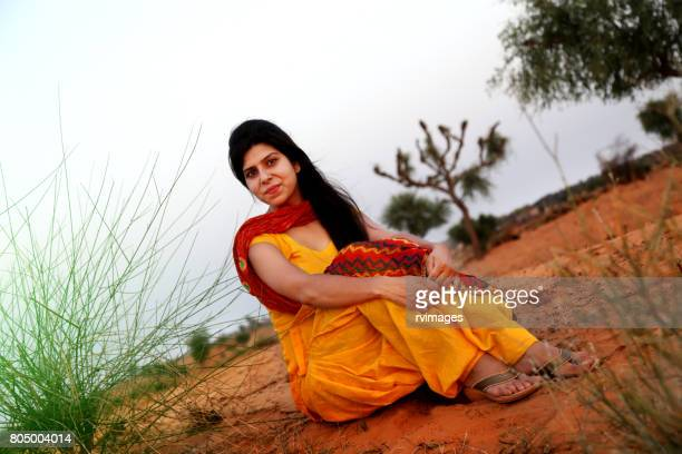 young women sitting portrait - salwar kameez stock photos and pictures