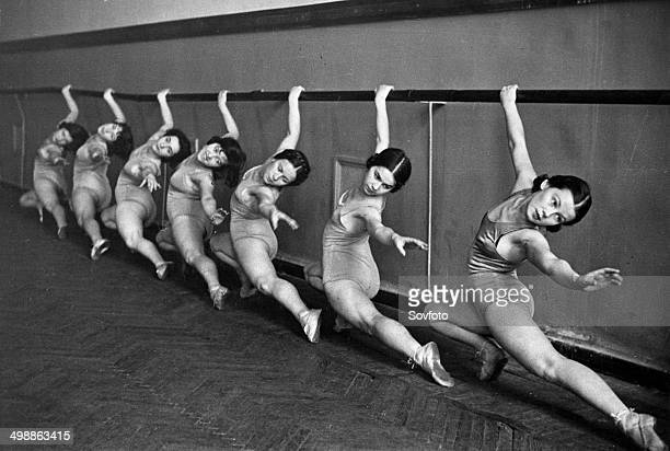 Young women studying ballet at the House of Physical Culture 1930s
