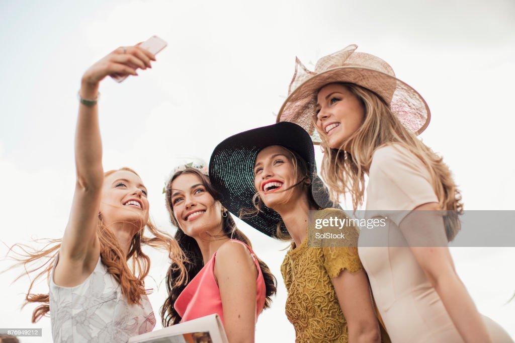 Young Women Taking a Selfie : Stock Photo